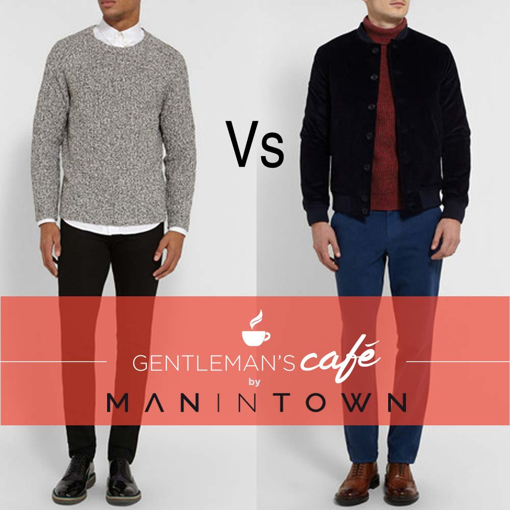 Sweaters under suits: the roll-neck VS turtle-neck - Gentleman's Cafè