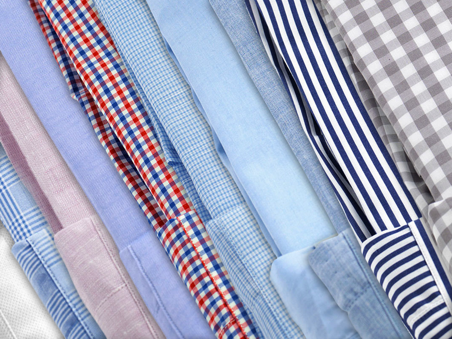 Shirt fabric weaves