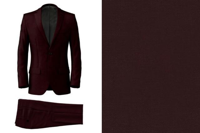 Burgundy Wool Suit