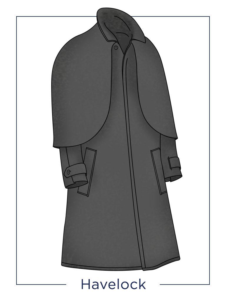 men's coat Havelock