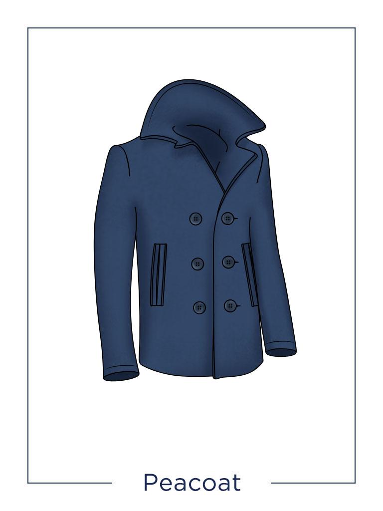 men's coat Peacoat