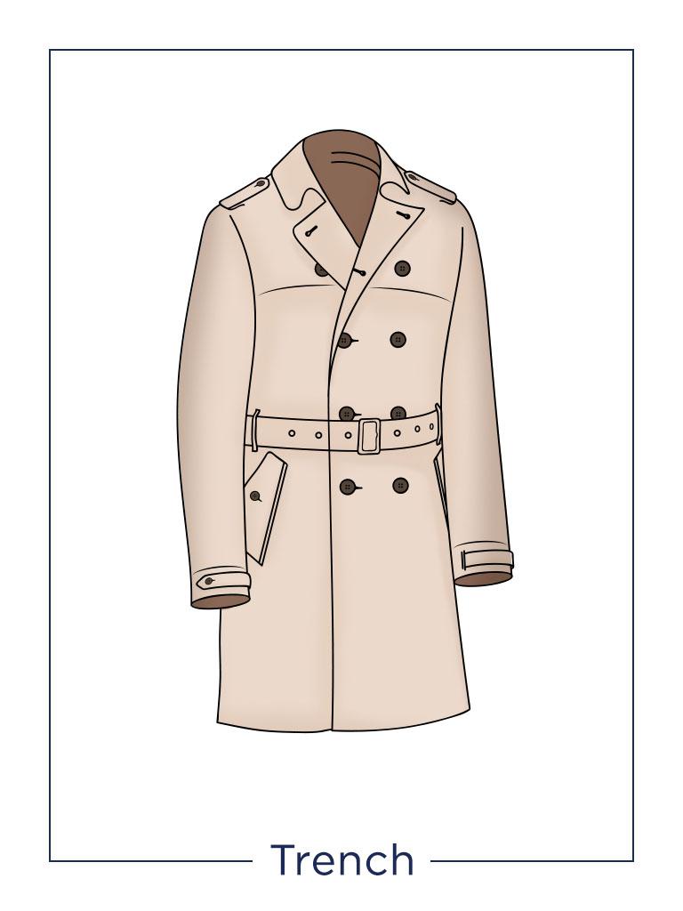 Cappotto da uomo Trench